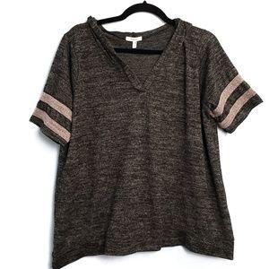 Maurice's Short Sleeve Hoodie Knit T Shirt
